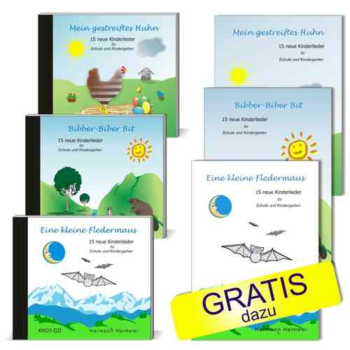 CD-Set Kinderlieder Frühlings-Aktion