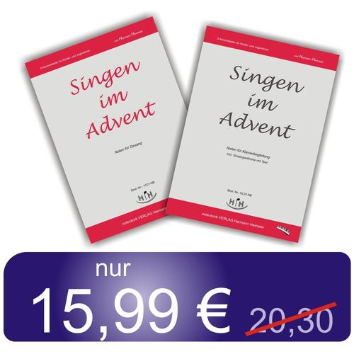 Noten-Set Singen im Advent (2 Notenbücher)