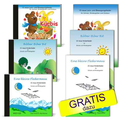 CD-Set Kinderlieder Herbst-Aktion