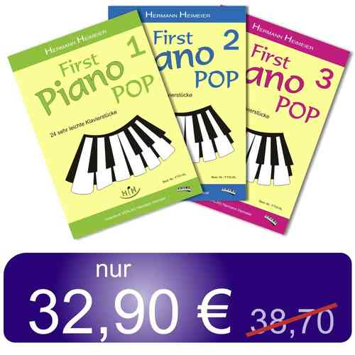 Klaviernoten-Set First PianoPop (3 Bände)