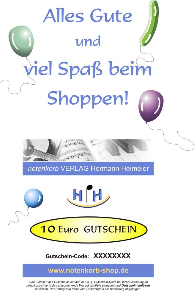 825b5114ac Geschenk-Gutschein im Wert von 10 Euro - notenkorb VERLAG