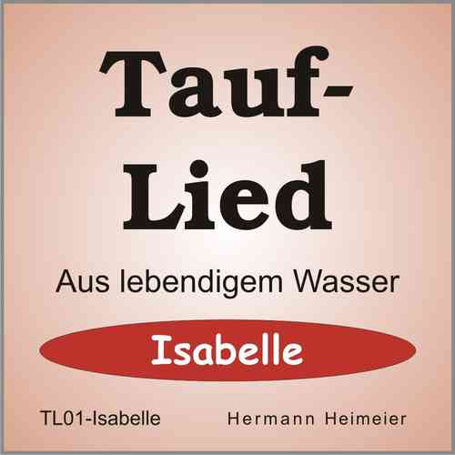 Tauflied [Isabelle] (mp3)