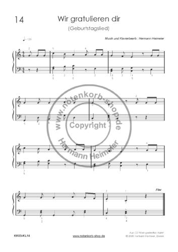 Weihnachtslieder Klavier Pdf.Wir Gratulieren Dir Geburtstagslied Klavier Pdf
