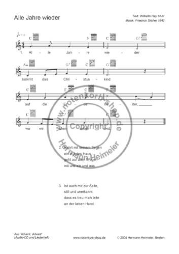 Advent, Advent [Gitarrengriffe] (pdf)